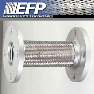 EFP SS Braided Flanged Ends