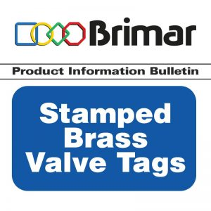 Stamped Brass Valve Tags